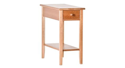 narrow table circle furniture shaker narrow side table accent