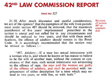 law section list in india pdf adultery in india ipc 497 42nd law commission report