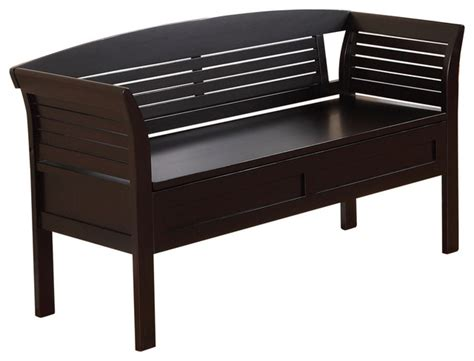 accent storage bench arlington entryway storage bench dark espresso brown
