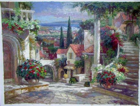 paintings of flower gardens garden painting