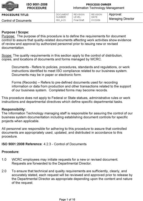 iso 9001 work template the iso work template can help you make a
