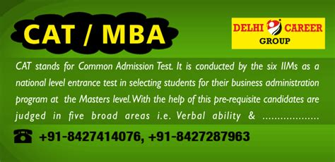 Age Limit For Cat Mba by Cat Mba Entrance Coaching In Chandigarh