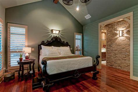 blue bedroom dark furniture photos hgtv