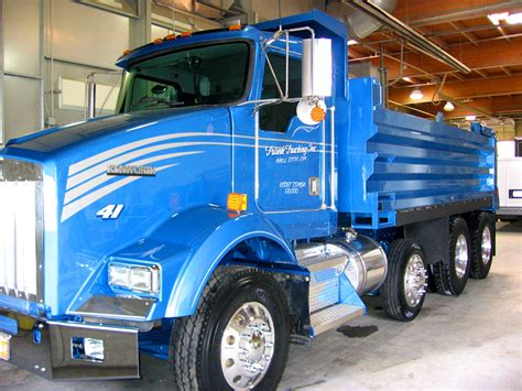 truck colors blue dump truck pacific truck colors