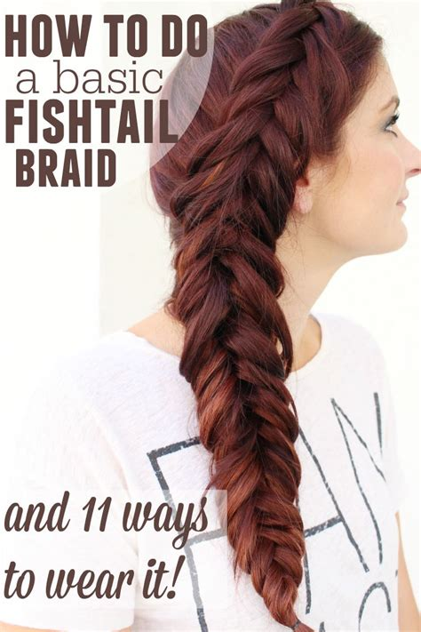 fishtail braid ma nouvelle mode