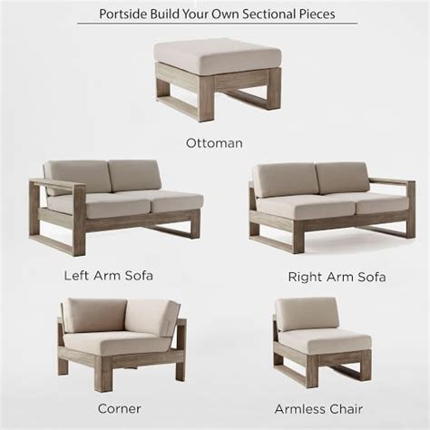 build your sectional build your own portside sectional west elm