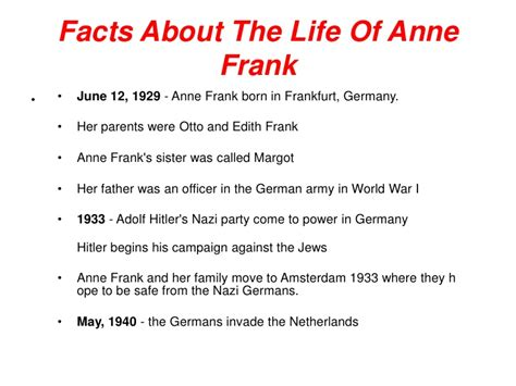 anne frank biography sparknotes anne frank