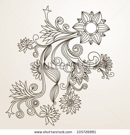 floral pattern sketch stock images similar to id 187781987 vector abstract