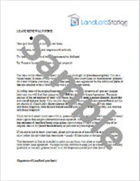 Commercial Lease Renewal Negotiation Letter Lease Renewal Letter Landlordstation