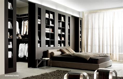 bedroom wall storage dividing wall with storage units cargosystem from feg