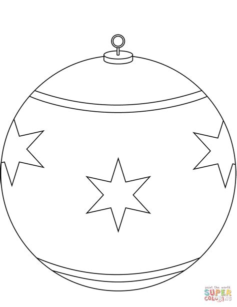 Round Christmas Ornament Coloring Page Free Printable Free Coloring Pages Ornaments