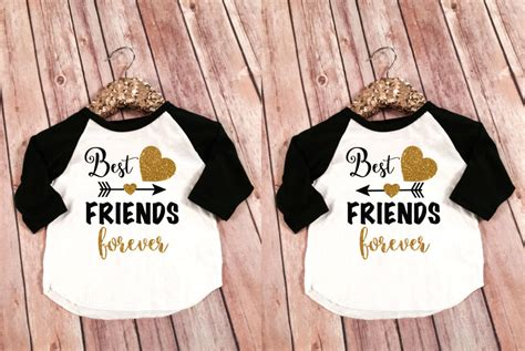 best friend for custom tees and t shirts best friends kid s raglans