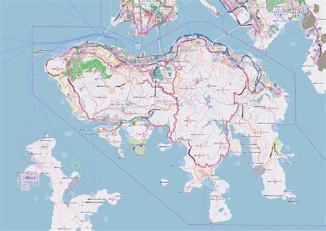 printable street map of hong kong large detailed road map of hong kong island hong kong