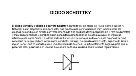 que es schottky diode diodos