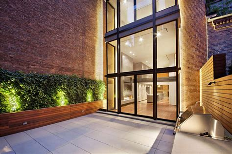 home design nyc terrace glass walls converted townhouse in greenwich