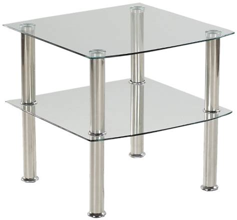 Nachtkästchen Glas by Lada Pisan Presto Mobilia 10412 Multifunktionstisch Nero