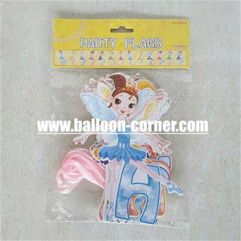 Banner Happy Birthday Banner Ulang Tahun Motif Baju Anak bunting banner happy birthday motif tinkerbell balloon