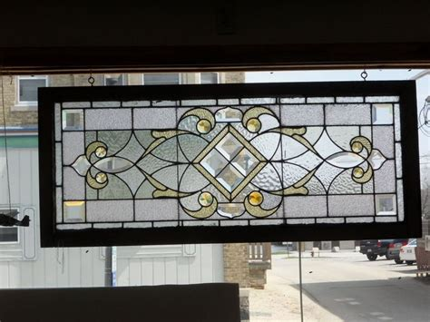 Vintage Transom Windows Inspiration Antique Stained Glass Transom Window Excellent Condition