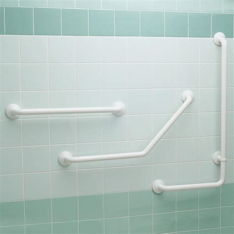 bathroom handrail armitage shanks multi system 60cm straight grab rail white