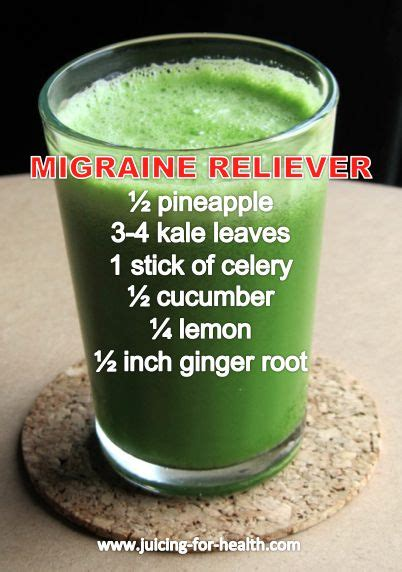 Cure Detox Headache by Migraine Fruits And Vegetables And Minerals On