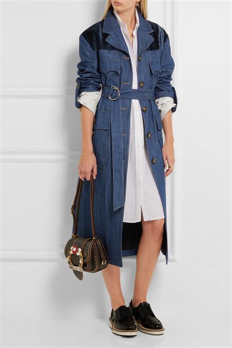 Magenta Miu Miu Coat For Fall by Miu Miu Fall 2016 Collection Net A Porter Shop