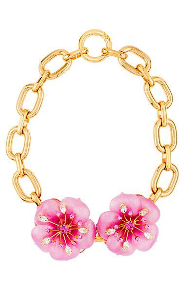 Statement Simulation Guboximi Charm Fashion Gem Necklace miu miu accessories summer 2013 pink flowers