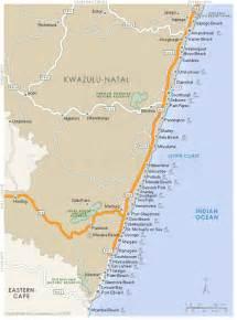 south coast map kwazulu natal