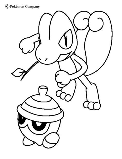 treecko and seedot coloring pages hellokids com