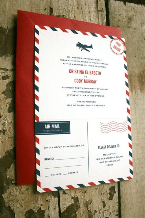 invitation design mail im really into the air mail invites with tear off rsvp s