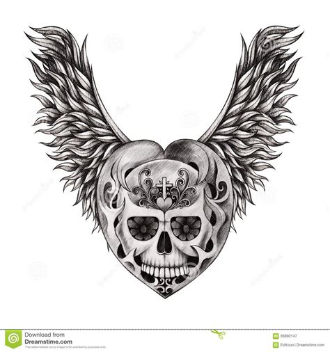 skull with wings tattoo image result for skull with wings drawings