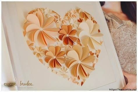 Home Decoration Christmas diy easy paper heart flower wall art handy diy