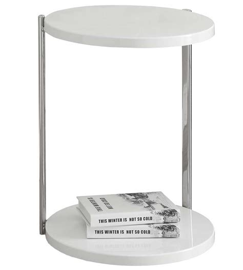 chrome accent tables white chrome metal accent table in side tables
