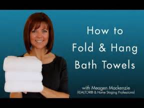 How to fold amp hang bath towels like a spa youtube