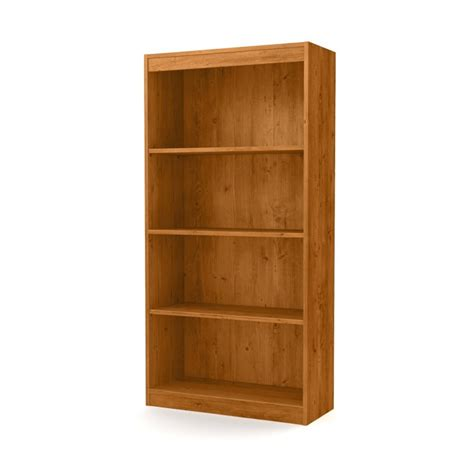 south shore 4 shelf bookcase south shore axess 4 shelf bookcase in country pine 10131