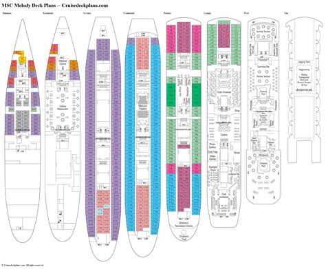 deck plan msc melody deck plans diagrams pictures