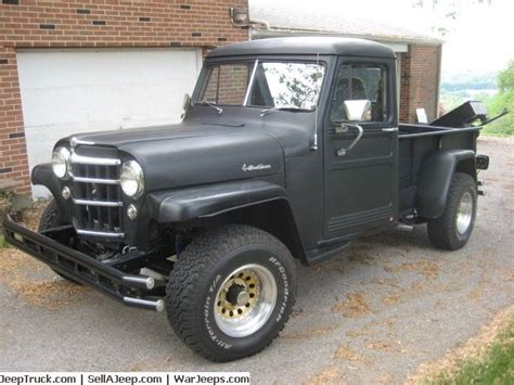 jeep wagon black 1956 willys pickup 1 1 2 ton 350 chevy motor turbo 350