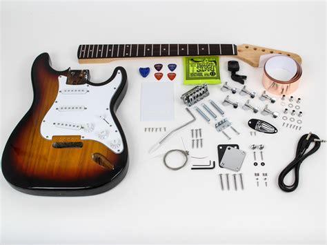 Bass Elektrik Fender Bonus Stand Kabel fender stratocaster diy guitar kit prefinished sunburst