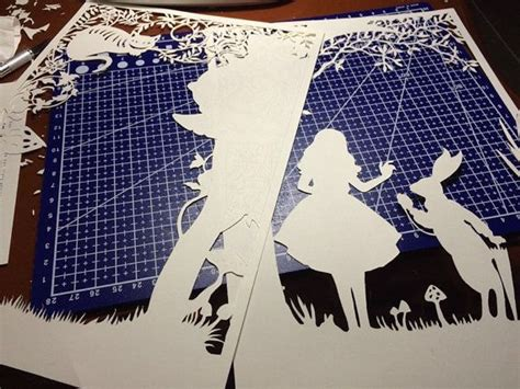 Lightbox Alice In Wonderland Paper Cut Light Box By Trysogodar Art Pinterest Shadow Box Papercut Lightbox Template