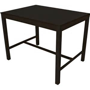 mainstays parsons counter height dining table black