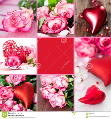 valentines day collage valentines collage royalty free stock image image 29073786