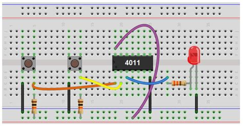 pull up resistor breadboard how to place connect a pull up resistors on chip 14core