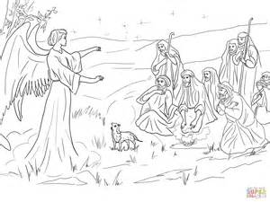 angel gabriel announcing the birth of christ to shepherds