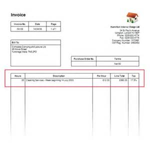 how to customise the invoice columns