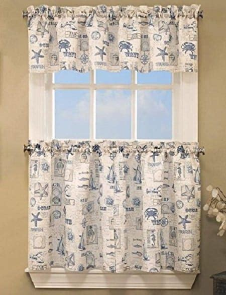 coastal kitchen curtains coastal kitchen curtains blue coastal by the sea tier
