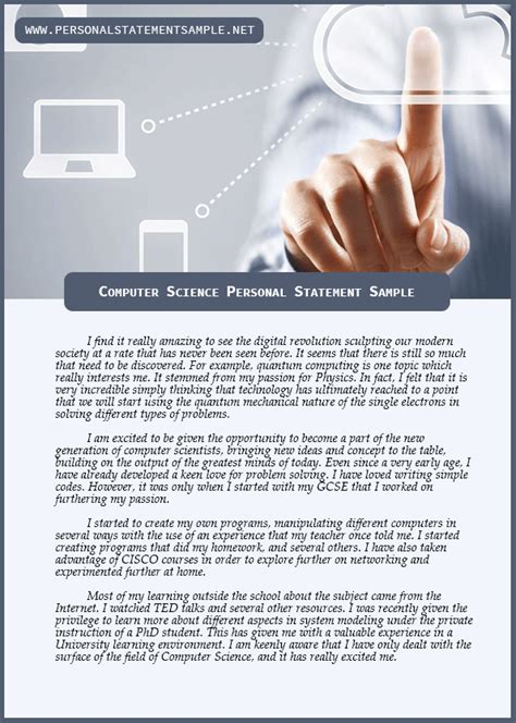 get the best computer science personal statement sle