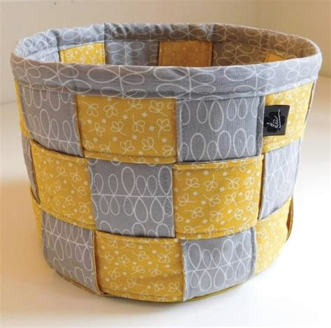 pattern fabric storage basket a lovely woven basket for storage and display quilting