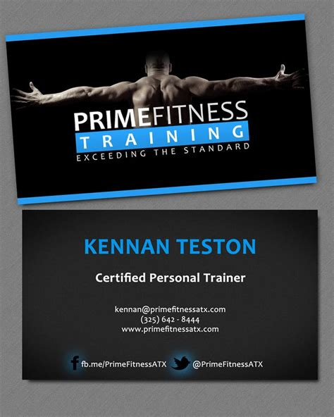 business card template personal trainer 25 best ideas about personal trainer business cards on