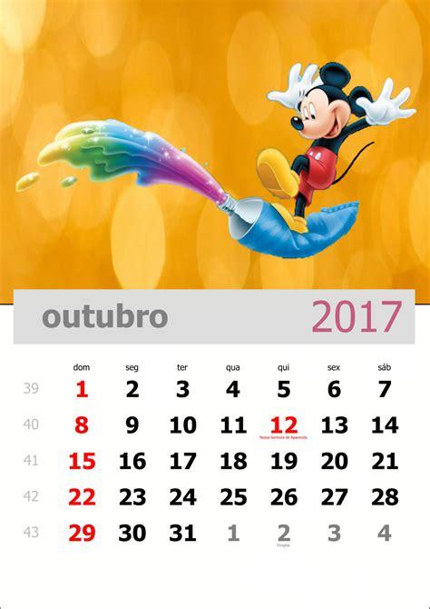 Baixe O Calend 225 Mensal De Outubro De 2017
