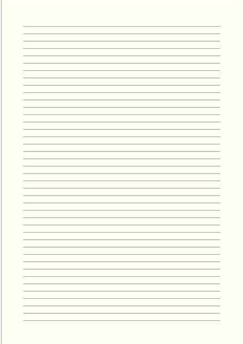 template for narrow card a4 size lined paper with narrow black lines pale yellow