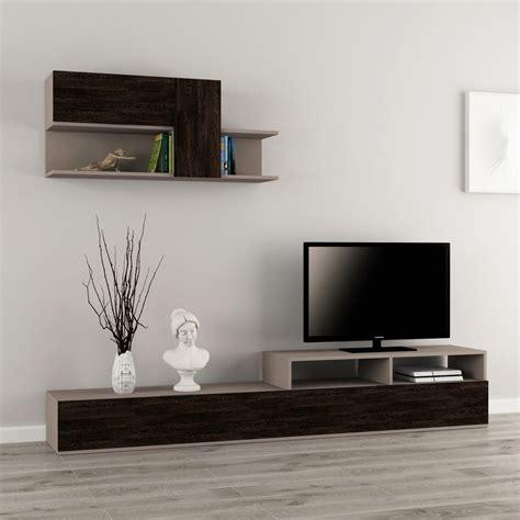 pareti porta tv adair parete attrezzata in legno melaminico design moderno